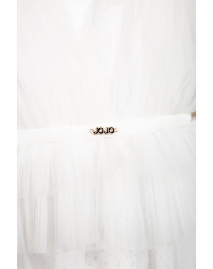 Платье фатиновое с подъюбником в золотистый горошек JoJo