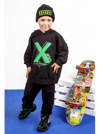 Костюм с капюшоном и ярким принтом X JO JO