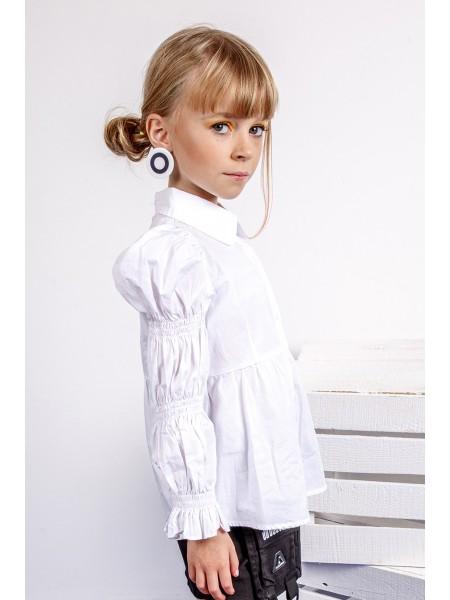 Блуза с баской и рукавами жиго JO JO