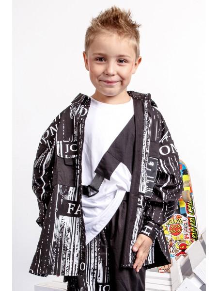 "Рубашка хлопковая с принтом ""матрица"" JoJo"