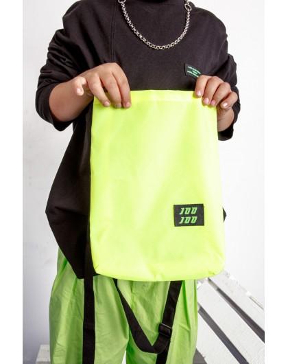 Свитшот с салатовой сумкой на липучке JoJo