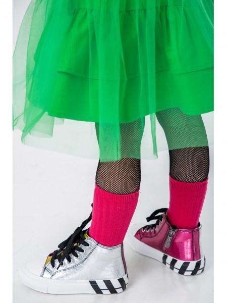 Кеды разноцветные с мехом Fashion Dog