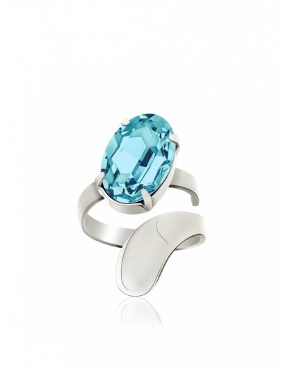 Кольцо с овальным кристаллом Swarovski Kobi
