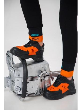 Кроссовки с оранжевыми вставками JOJO
