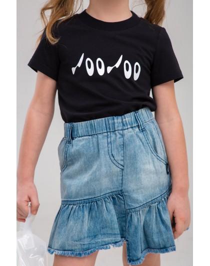 Юбка джинсовая с бахромой JOJO