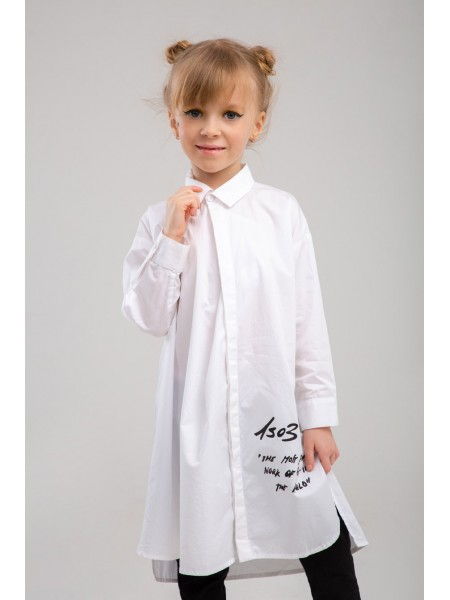 Платье-рубашка хлопковая JO JO