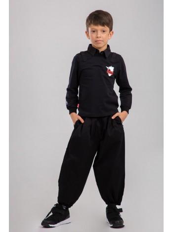 Штаны хлопковые с широкими штанинами JO JO