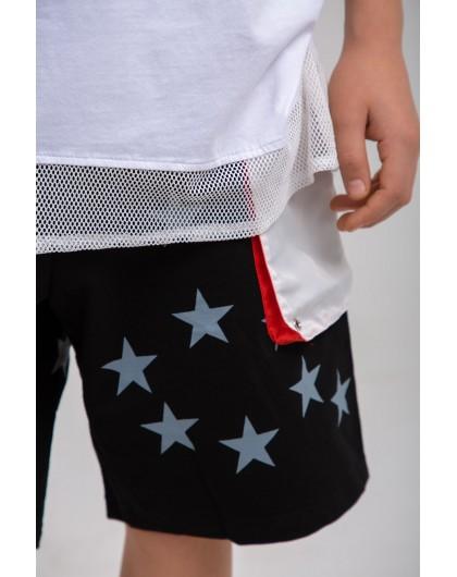 Шорты со звездами и белыми карманами Manan