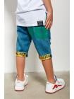 Шорты джинсовые с разрезами и принтом JO U JO JO