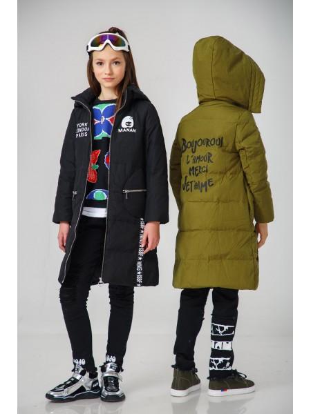 Пуховое пальто с капюшоном Manan