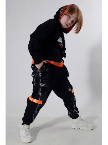 Штаны со вставками под кожу Manan
