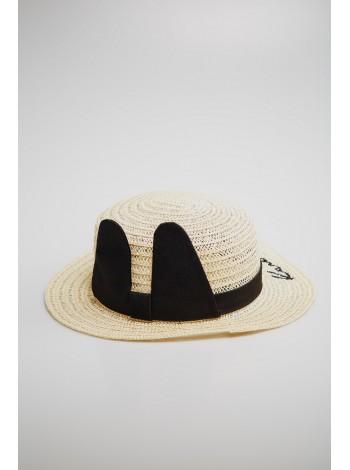 Шляпа соломенная с ушками зайчика JO JO