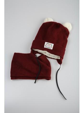 Комплект шапка с шарфом- хомутом Gufo