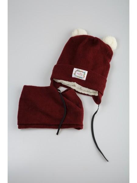 Комплект шапка с шарфом- хомут Gufo