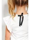 Блуза с рюшами и бантиком JO JO