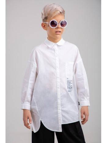 Рубашка в нестандартном покрое JO JO