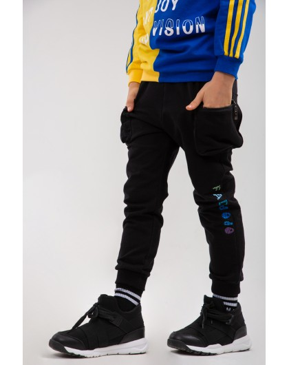 Штаны с накладными карманами и принтом FAD JO JO