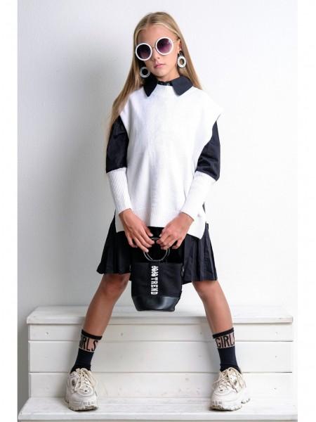 Платье с вязаной жилеткой JO JO
