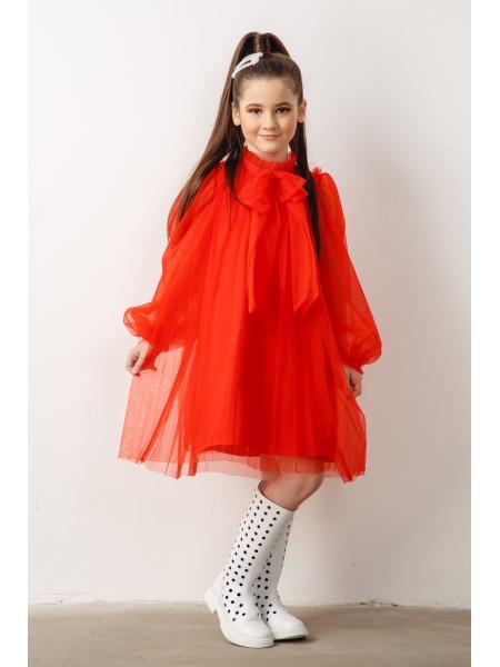 Платье из фатина со съемным бантиком JOJO
