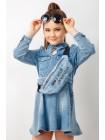 Платье джинсовое с поясом JOJO