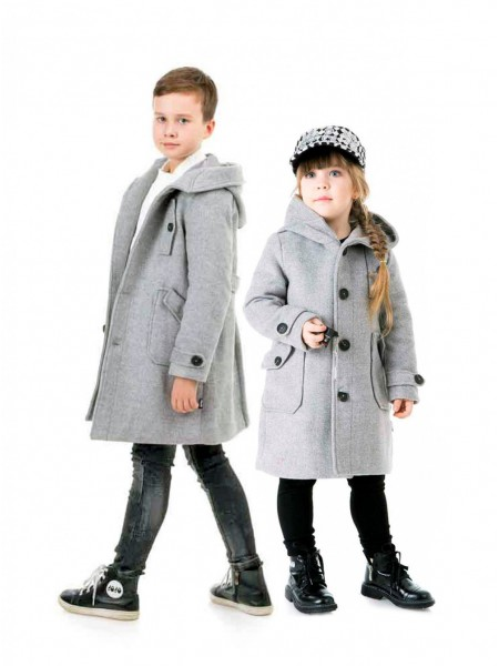 Пальто кашемировое с капюшоном JO JO