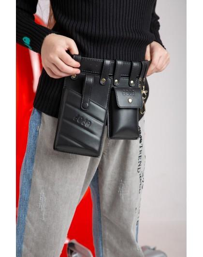 Пояс с сумками и карабинами JO JO