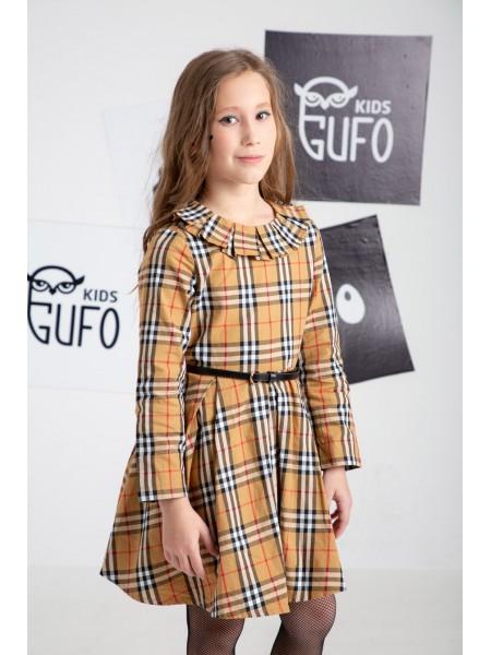 Платье в стиле Burberry с поясом JO JO