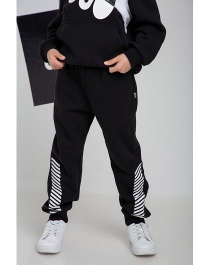 Штаны с принтом полосы на штанинах JO JO