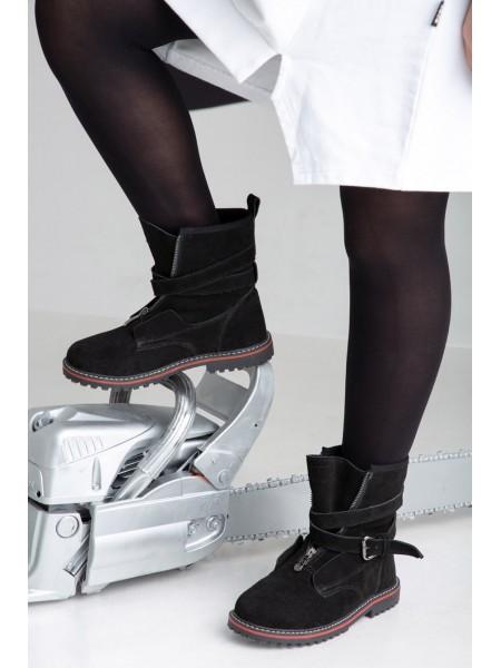 Ботинки замшевые с ремешками JO JO