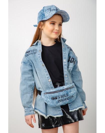 Рубашка джинсовая с принтами  JOJO