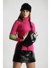 Гольф-свитер с зелёной вставкой  JO JO