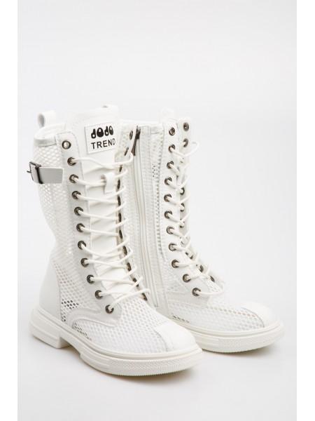 Ботинки высокие с сетчатыми вставками JO JO