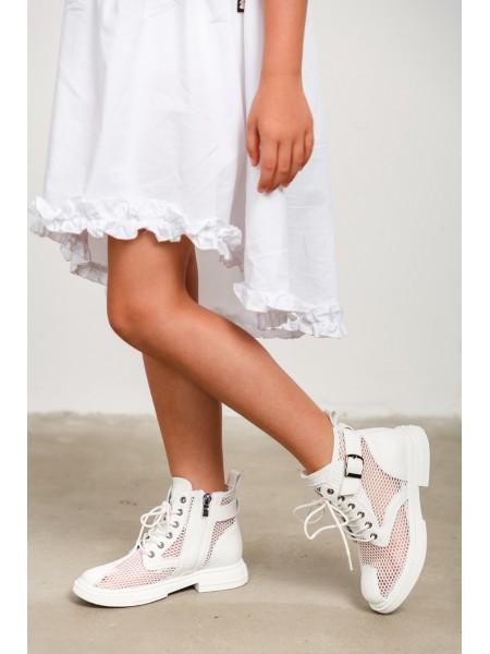 Ботинки сетчатые с кожаными вставками JO JO