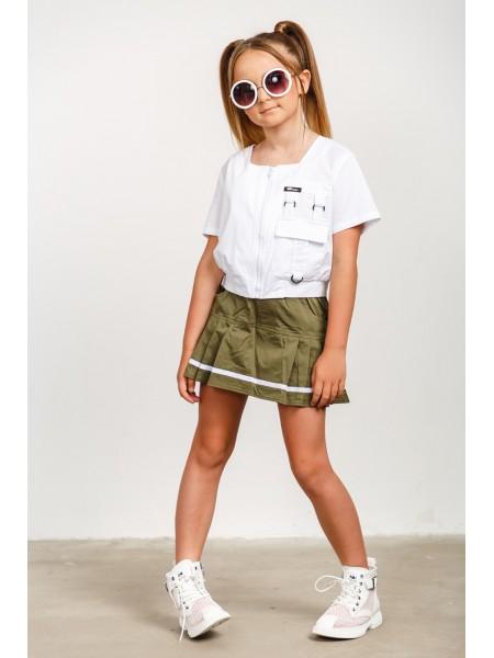 Юбка-шорты с брендированной резинкой JO JO
