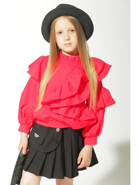 Блуза с рюшами JO JO