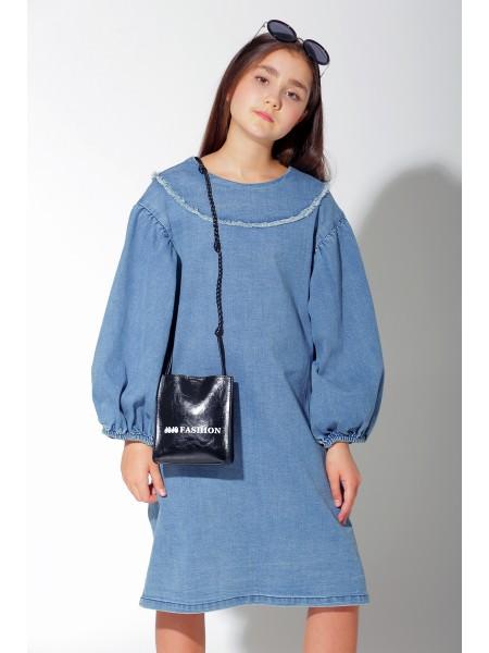 Платье джинсовое с широкими рукавами JO JO