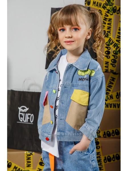 Жакет джинсовый с цветными карманами Manan