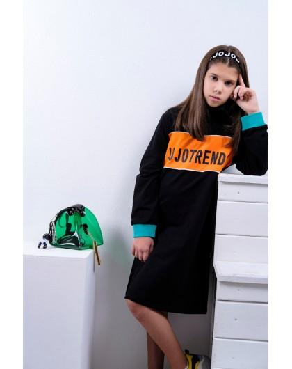 Туника-поло с брендовым принтом JO JO