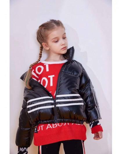Куртка-пуховик с крупным принтом сзади Manan