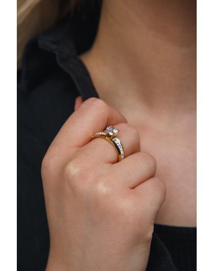 Кольцо с кристаллами Swarovski Steel