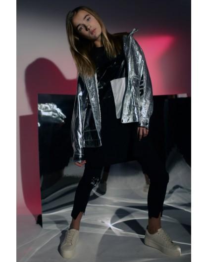 Куртка с блестящим покрытием JO JO