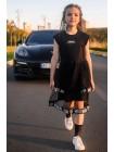 Платье с брендовым принтом  JO JO