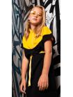 Платье зауженое на талии с нашивкой Tradicional JOJO