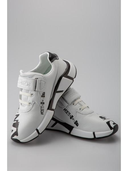 Кроссовки кожаные с принтом CHINA Fashion Dog