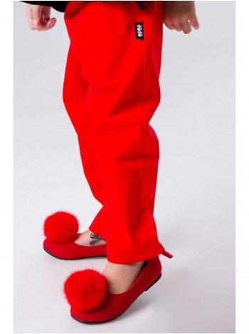 Туфли  JO JO с помпоном из натурального меха