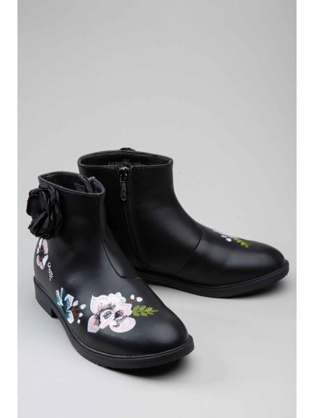 Ботинки с вышивкой и цветком сбоку FASHION DOG