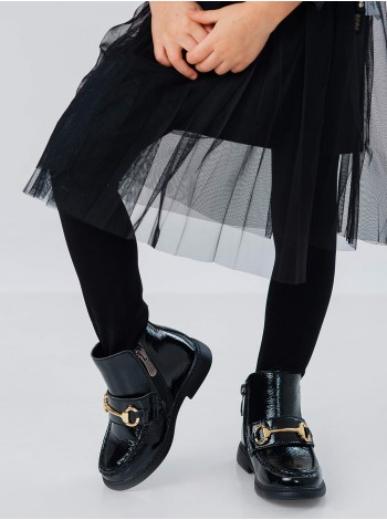 Ботинки кожаные с золотой вставкой JoJo