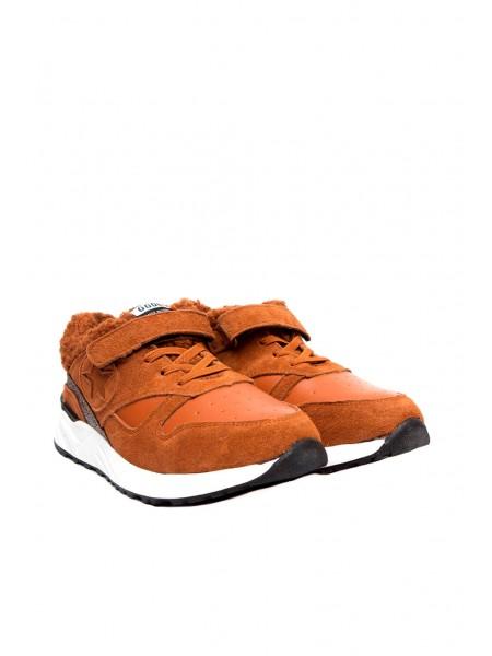 Кроссовки с мехом на липучке Gufo