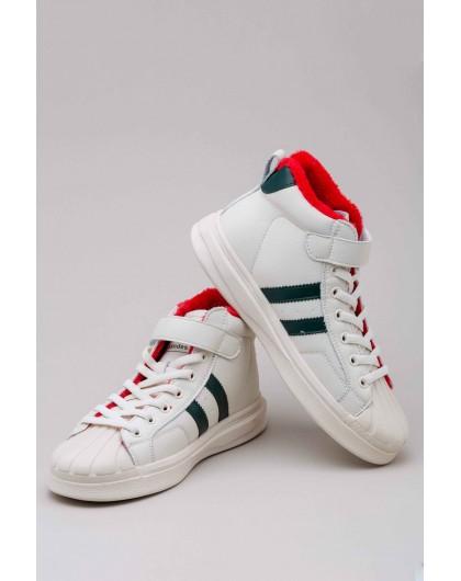 Кеды кожаные на меху в стиле Adidas Manan