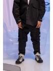 Штаны стеганные с накладными карманами JoJo